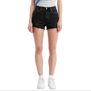 Levi's 501 Lunar Black Shorts
